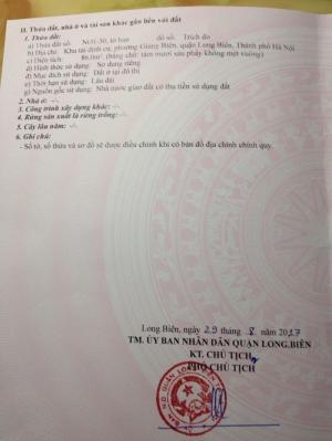 Bán đất tái định cư Giang Biên - Long Biên - Hà Nội