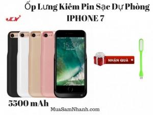 Hot IPhone 7 Chú Ý, Ốp Lưng Kiêm Pin Sạc Dự Phòng IPHONE 7 MODEL JLW-7GA-2 5500mAh.