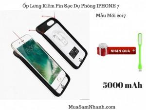 Sạc Không Dây Cho IPhone 7 Mẫu Mới 2017, Ốp Kiêm Pin Dự Phòng 7GS-2 Dung Lượng 5.000mAh, Chống Va Đập - MSN181144