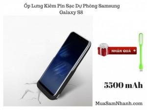 Ốp Lưng Samsung Galaxy S8 Kiêm Sạc Dự Phòng Dung Lượng 5500mAh - MSN181246