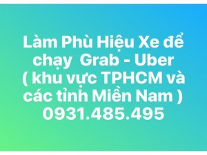 Làm Phù hiệu xe để chạy Grab, Uber ở tphcm