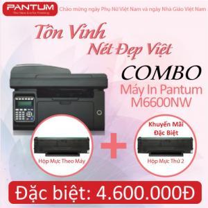 Bộ combo máy in Pantum M6600NW + Mực in PC210