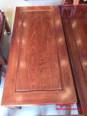 Bộ bàn ghế gỗ hương cuốn thư phòng khách nhỏ 6 món