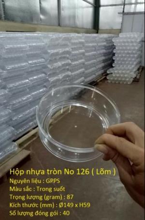 Hộp nhựa tròn No 126 ( Lõm )