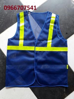 Áo phản quang công nhân màu xanh dương