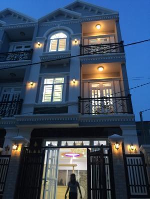 Bán nhà sổ riêng KDC Sài Gòn Mới DT 5x12m, 2 lầu, 4 PN, hướng Tây Bắc