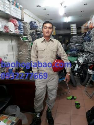 Quần áo bảo hộ lao động túi hộp vải kaki nhật dày