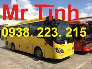 Thiết kế phối màu xe 29 34 chỗ bầu hơi thaco town tb82 mới nhất hiện nay