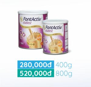 Sữa dinh dưỡng FontActiv Diabest cho người tiểu đường