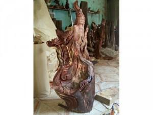 Tượng Phật gỗ  tự nhiên