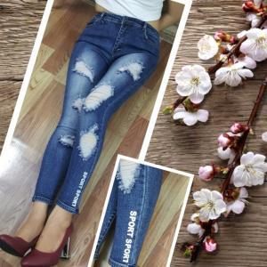 Quần jean rách dài nữ