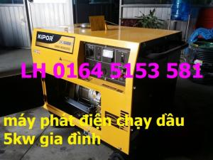 Chuyên các loại máy phát điện chạy dầu 5kw,7kw,8kw công nghệ Nhật