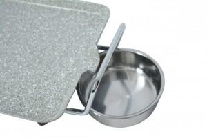 Mặt vân đá hấp thụ nhiệt nhanh, không dính, không tốn dầu bơ