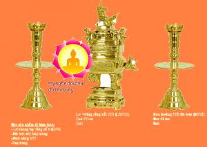 Bộ Lư Đồng Trơn Mẫu Xưa
