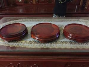 Bộ kỉ tròn đặt bát hương bằng gỗ hương các loại