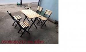 Bàn ghế gỗ quán nhậu giá siêu rẻ tại xưởng