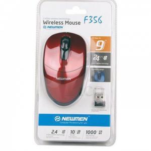Mouse wireless Newmen F356 Đỏ Tặng Kèm Pin
