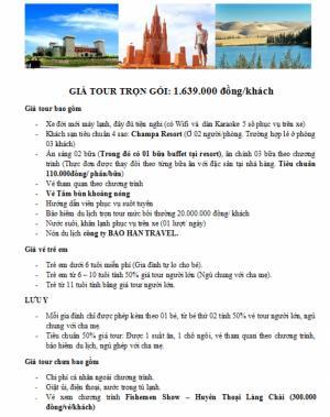 Tour Phan Thiết - Mũi Né 2N1Đ Giá Siêu Hot