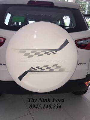 Ford Ecosport 2017,tây ninh bán xe Ecosport Titanium màu trắng số tự động