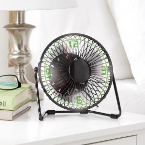 Brookstone clock fan - Quạt và đồng hồ USB