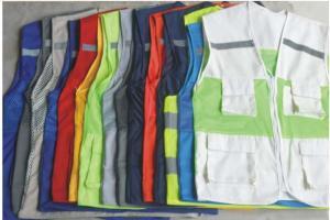 Áo gi lê túi hộp có phản quang, áo lưới phản quang các loại