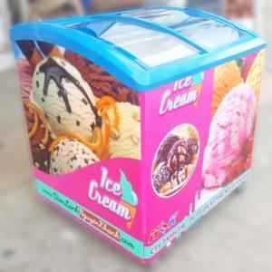 Tủ đông kem Alaska 200 lít (kính cong)
