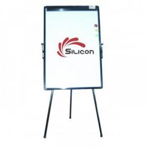 Bảng Flipchart Silicon FB33 (70x100) - Kích thước bề mặt Bảng: W70xH100cm (W: Chiều dài, ngang; H: Chiều cao) - Tổng chiều cao cả chân Bảng: 190cm (Độ cao có thể điều chỉnh tùy ý) - Tiêu chuẩn ISO - Bảng Flipchart Silicon 3 chân ( chân rút ) - Bảng khung thép sơn tĩnh điện, có từ tính để gắn nam châm. - Trọng lượng cả bao bì (kg): 10. - Kích thước: 70 x 100cm - Trọng lượng bảng (kg): 8.3. - Bảo hành 1 năm. - Xuất xứ: Trung Quốc. Khuyến mại: 01 Block Giấy Flipchart A1 25 tờ; 01 Tấm lau bảng và 3 viên bọ nam châm từ - Bảng Flipchart Silicon FB-33 là loại bảng viết di động dùng để thuyết trình, hội họp, hội nghị, giảng dạy và đào tạo, di chuyển thuận tiện, có thể dùng bút dạ để viết trực tiếp lên mặt bảng hoặc lên giấy dùng 1 lần. - Bảng Flipchart Silicon FB-33 có kiểu dáng đẹp và kích thước gọn nhẹ dễ di chuyển. Mặt bảng nhập ngoại được làm bằng chất liệu nhựa tráng men nên viết rất êm, dễ lau chùi và có tác dụng chống trầy xước nên đa số công ty văn phòng thường dùng bảng Flipchart FB-33 - Kiểu chân: 3 chân rút có thể thu gọn, dễ dàng di chuyển. - Có thể điều chỉnh độ nghiêng của bảng để tạo góc nhìn thoải mái cho người thuyết trình và người xem - Thanh kẹp được thiết kế độc đáo, dễ dàng tháo lắp và giữ giấy chắc khi viết