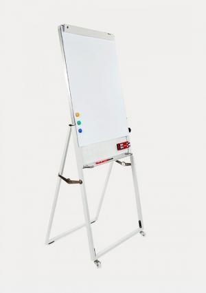 Bảng Flipchart Up side Down USD-0610 (Hàn Quốc) - Kích thước bề mặt Bảng: W600xH1000cm (W: Chiều ngang; H: Chiều cao) - Tổng chiểu cao cả chân Bảng: 190cm (có thể điều chỉnh độ cao tùy ý) - Bề mặt bảng được làm bằng thép Thép nhập khẩu của Hàn Quốc phủ sơn trắng bền mặt bảng có dòng kẻ ô vuông mờ 5x5cm - Khung nhôm cao cấp chuyên dụng. - Cốt bảng tổ ong (thân thiện với môi trường). - Máng bút chạy suốt chiều dài bảng. - Các góc bảng có đầu bịt bằng nhựa tránh sắc nhọn. - Có thanh kẹp clip dễ dàng tháo lắp và kẹp chặt giấy. - Chân di động bằng thép hộp được thiết kế để tạo 1 độ nghiêng hợp lý cho bảng. - Chân có bánh xe đi động, 2 bánh có chốt hãm, 2 bánh ko có chốt hãm - Chân có thể gấp mở 1 cách dễ dàng, thuận tiện cho việc di chuyển. KM: 01 Tấm Lau Bảng. 01 Vỉ nam châm từ 6 viên và 1 Block Giấy Flipchart chuyên dụng
