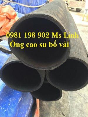 Ống cao su bố vải dẫn nước, xả nước phi 100, 120, 150, 200, 250, 300