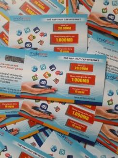 Chuyên sỉ, lẻ Thẻ cào data 1400MB Mobifo