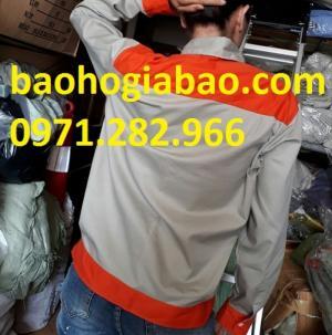 Áo bảo hộ lao động phối màu cam giá rẻ
