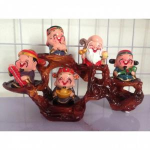 Bộ tượng 5 ông PHÚC - LỘC -THỌ - TÀI - HỶ (KÈM ĐẾ)