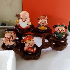Bộ tượng 5 ông PHÚC - LỘC -THỌ - TÀI - HỶ