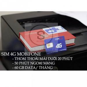 Sim 4G Mobifone Thoại Miễn Phí + 60Gb Data