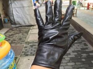Găng tay giả da lót nhung không thấm nước giữ ấm chống lạnh mùa đông