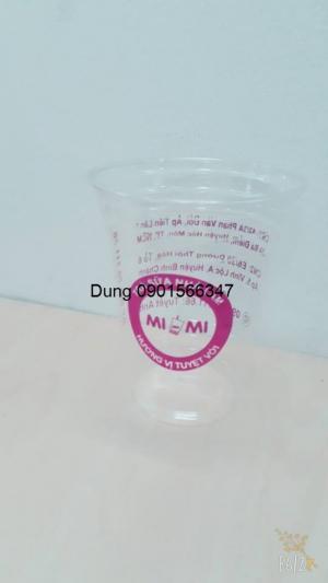 Ly trà sữa in logo MiMi 2 màu