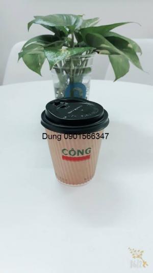 Ly giấy in logo 1 màu cho ly cafe