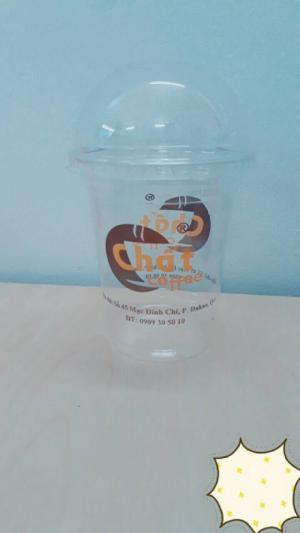 Ly giấy in logo 1 màu cho ly cafe