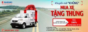 Mua xe tải suzuki pro khuyến mãi thùng và chi phí đăng ký chỉ với 300tr