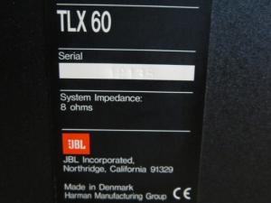 Loa JBL TLX 60 (Made in Denmark)
