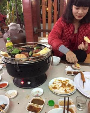 Bếp nướng than hoa gia đình, nhà hàng không khói BN300