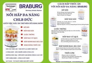 Nồi Hấp Braburg 3 Tầng Đa Năng, Tiêu Chuẩn Châu Âu, An Toàn Tiện Lợi, Công suất 900W - MSN383237
