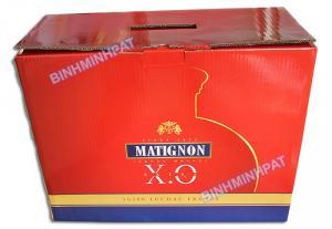 In thùng carton đựng Rượu cao cấp - thùng carton đựng Rượu XO in offset