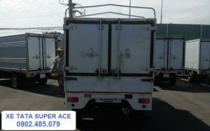 Xe TATA Super Ace có đầy đủ các loại thùng: thùng lửng, thùng mui bạt, thùng kín