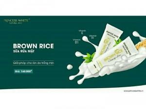 Sữa rửa mặt mầm gạo Princess_white