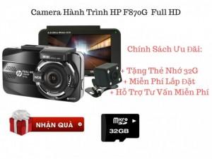 Camera hành trình HP-F870G Full HD 2 Camera Trước Sau, Cảnh báo làn đường, cảnh báo quá tốc độ - MSN388276