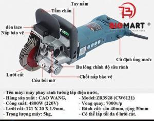 Máy cắt tạo rãnh CAOWANG ZR3928 (CW6121)