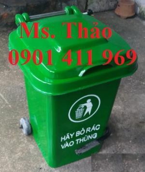 Thùng đựng rác 2 bánh xe, thùng rác 120 lít, thùng chứa rác