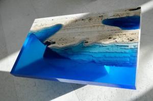 Keo Epoxy Resin cứng trong suốt đổ mặt bàn