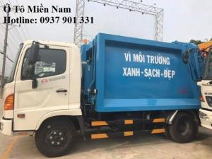 Xe ép rác Hino 9m3 - Hotline: 0937901331 (24/24)